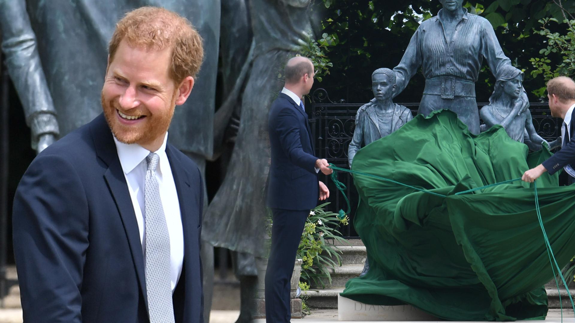William i Harry ODSŁANIAJĄ pomnik księżnej Diany. Nie widać śladu konfliktu (ZDJĘCIA)