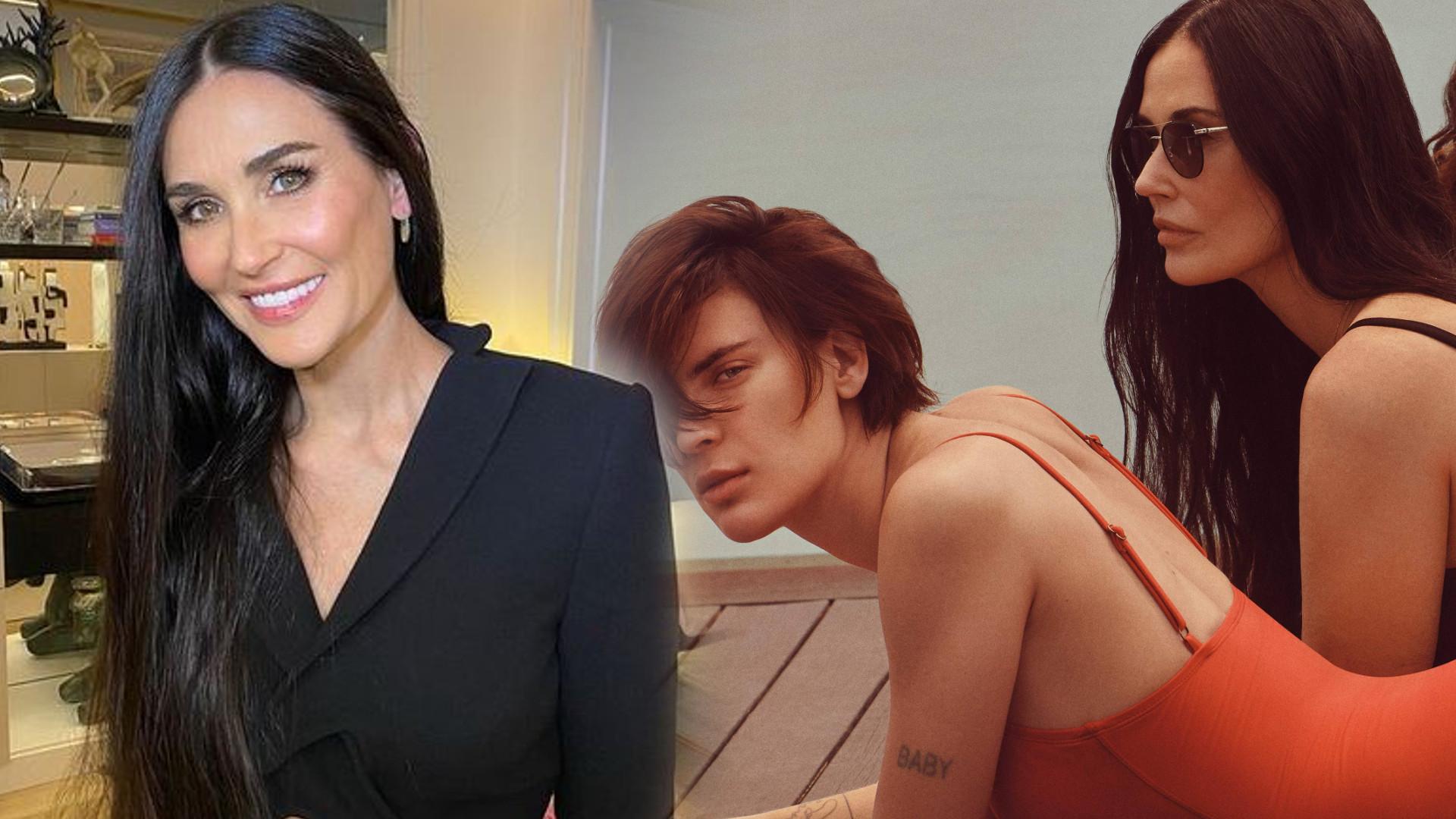 Demi Moore i jej 3 córki w reklamie strojów kąpielowych