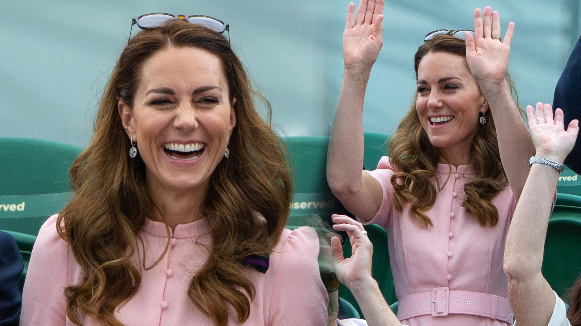 Księżna Kate na finale Wimbledonu w szpilkach z sieciówki. Na pewno szybko znikną z półek (ZDJĘCIA)