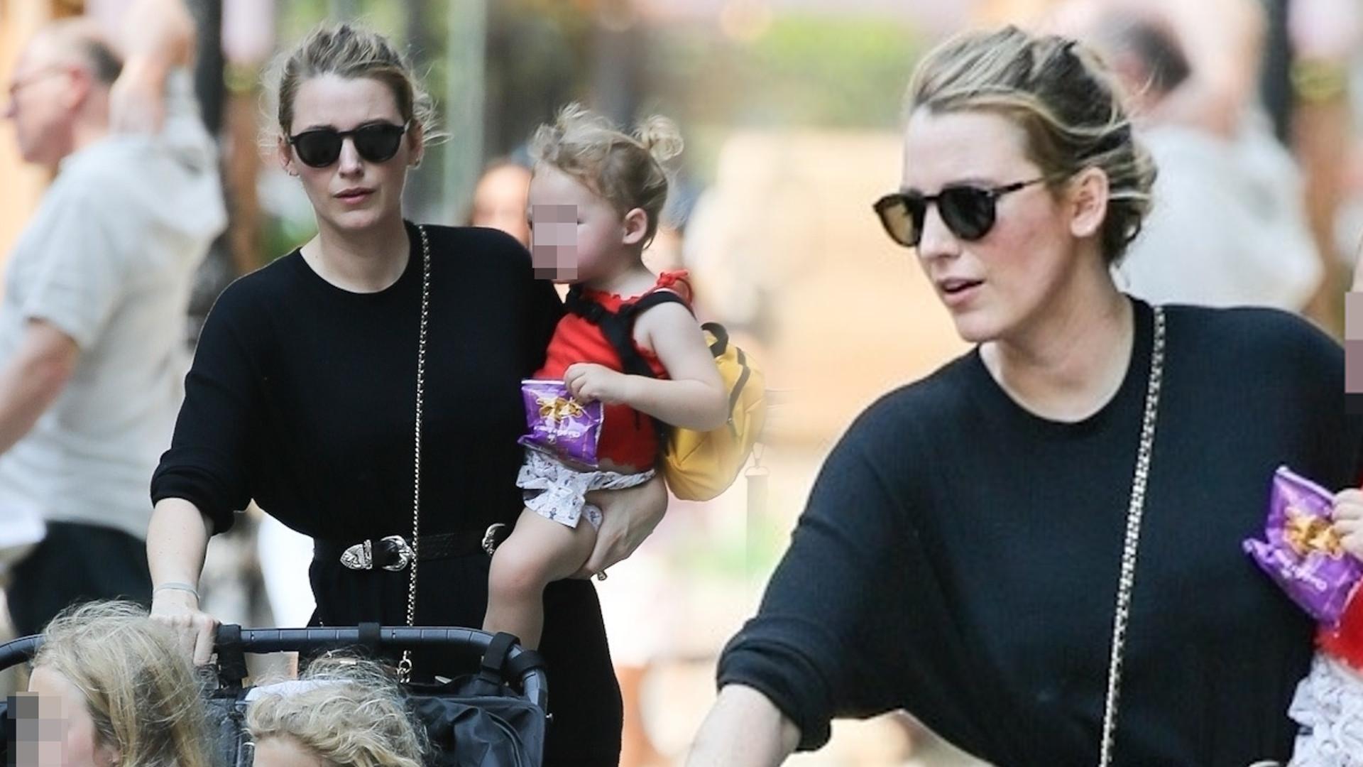 Dawno niewidziana Blake Lively ogarnia TRZY córki na spacerze (ZDJĘCIA)