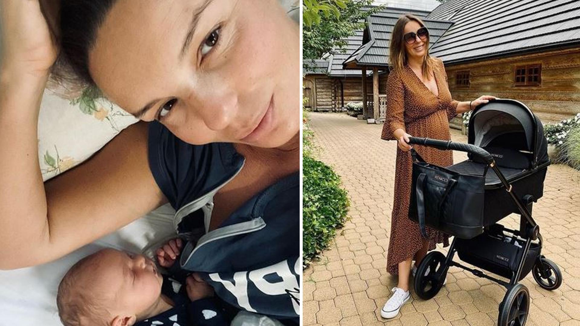 """Agnieszka Włodarczyk pokazuje brzuch 4 tygodnie po porodzie: """"Chciałam sobie coś kupić, ale chyba jeszcze nie ma sensu"""""""
