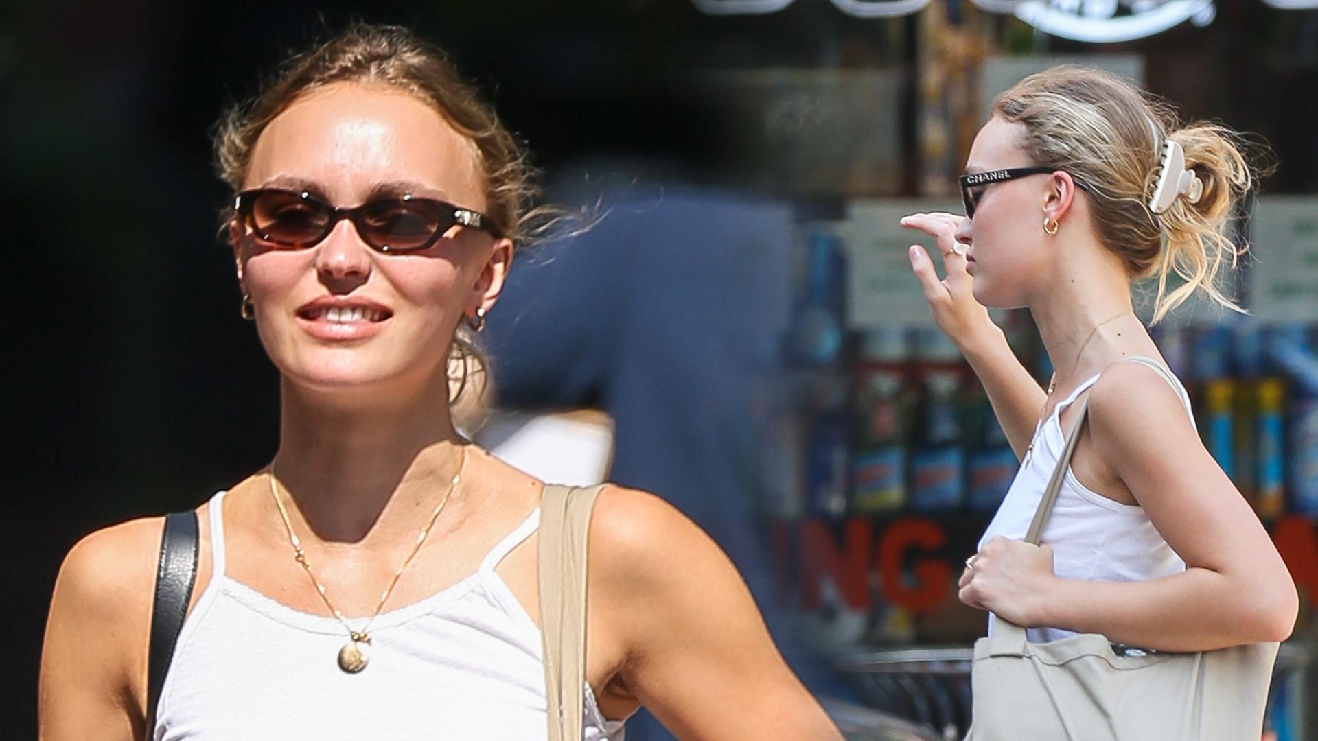 Bardzo szczupła Lily-Rose Depp w Nowym Jorku. Córka Johnny'ego Deppa spotyka się z byłym Vanessy Hudgens