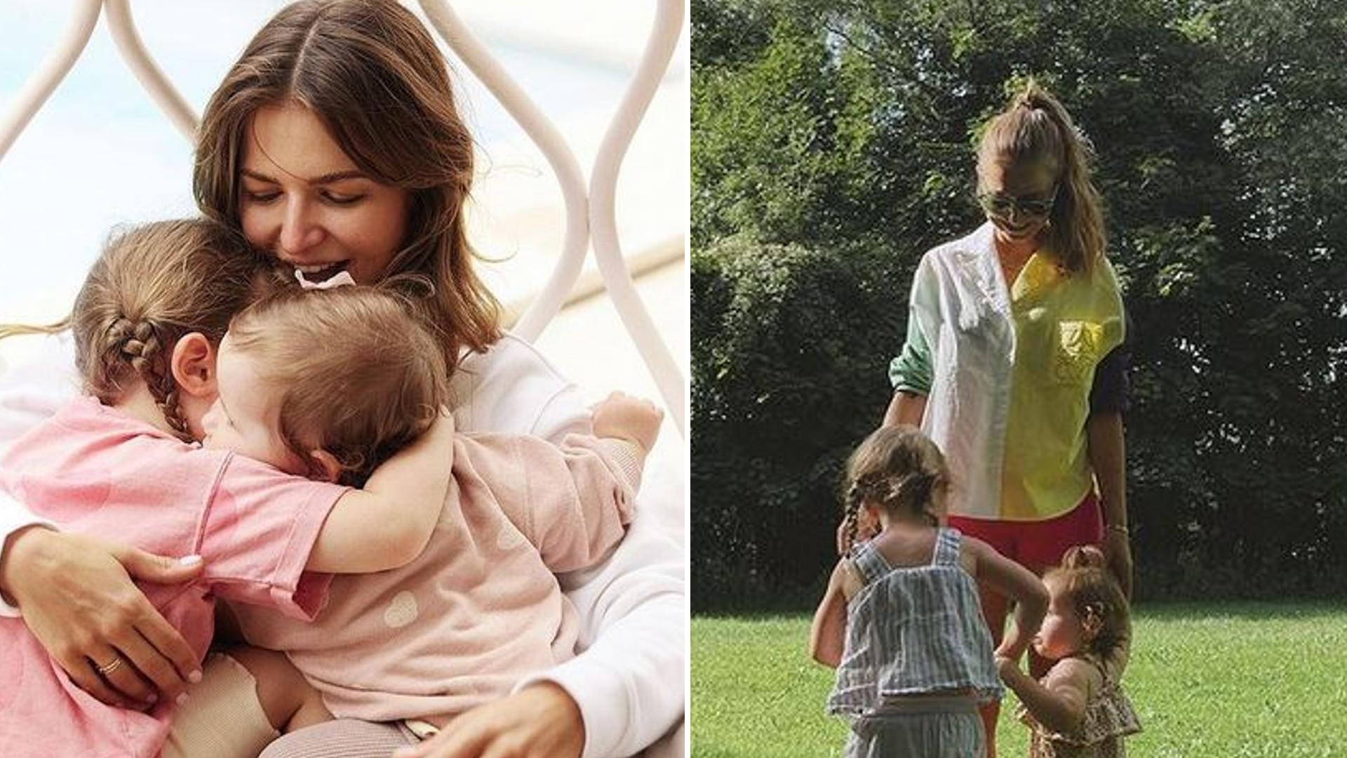 """Anna Lewandowska na pikniku z córeczkami: """"Laura jaka minka, Robert to ma… 3 baby w domu"""""""