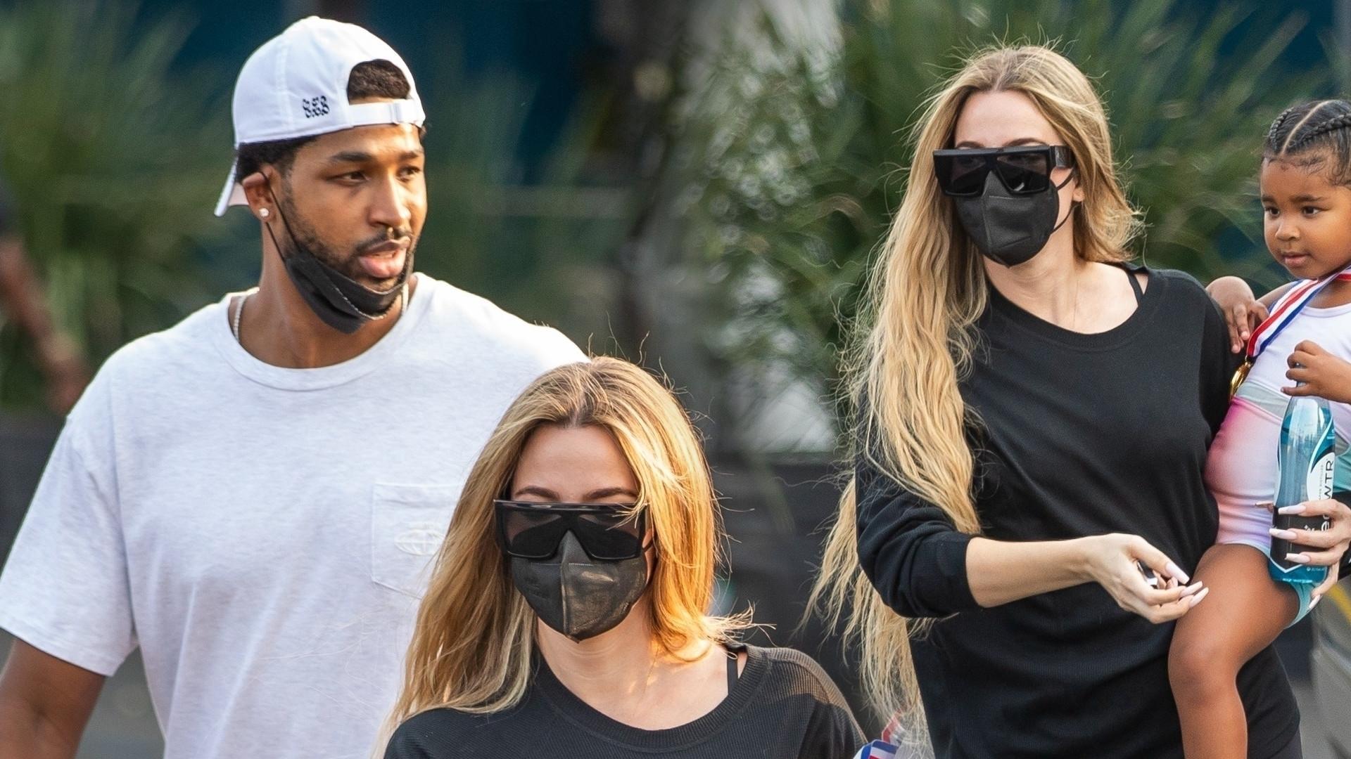 Khloe Kardashian znów z Tristanem. Została skrytykowana za fryzurę córki (ZDJĘCIA)