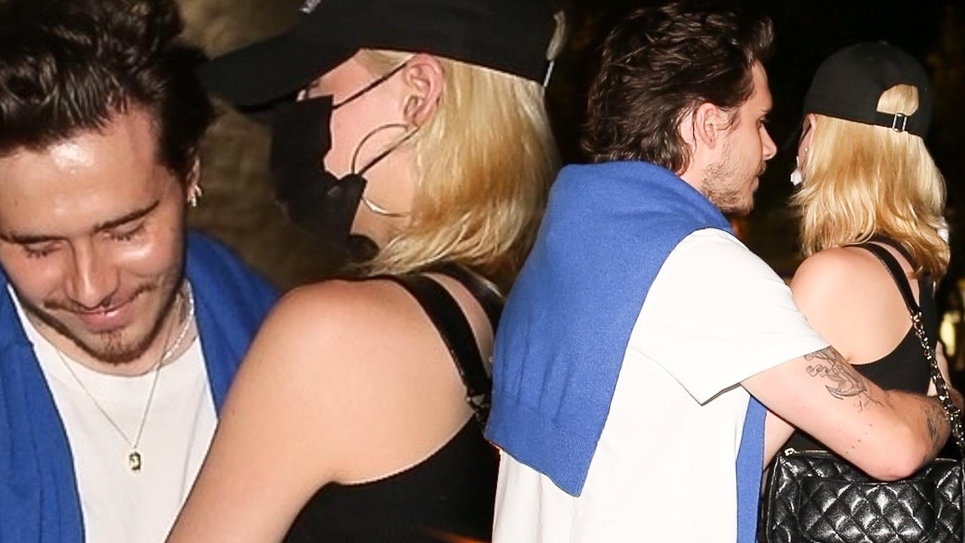 Brooklyn Beckham na randce z Nicolą Peltz. Jego ukochana chyba nie była w nastroju… (ZDJĘCIA)