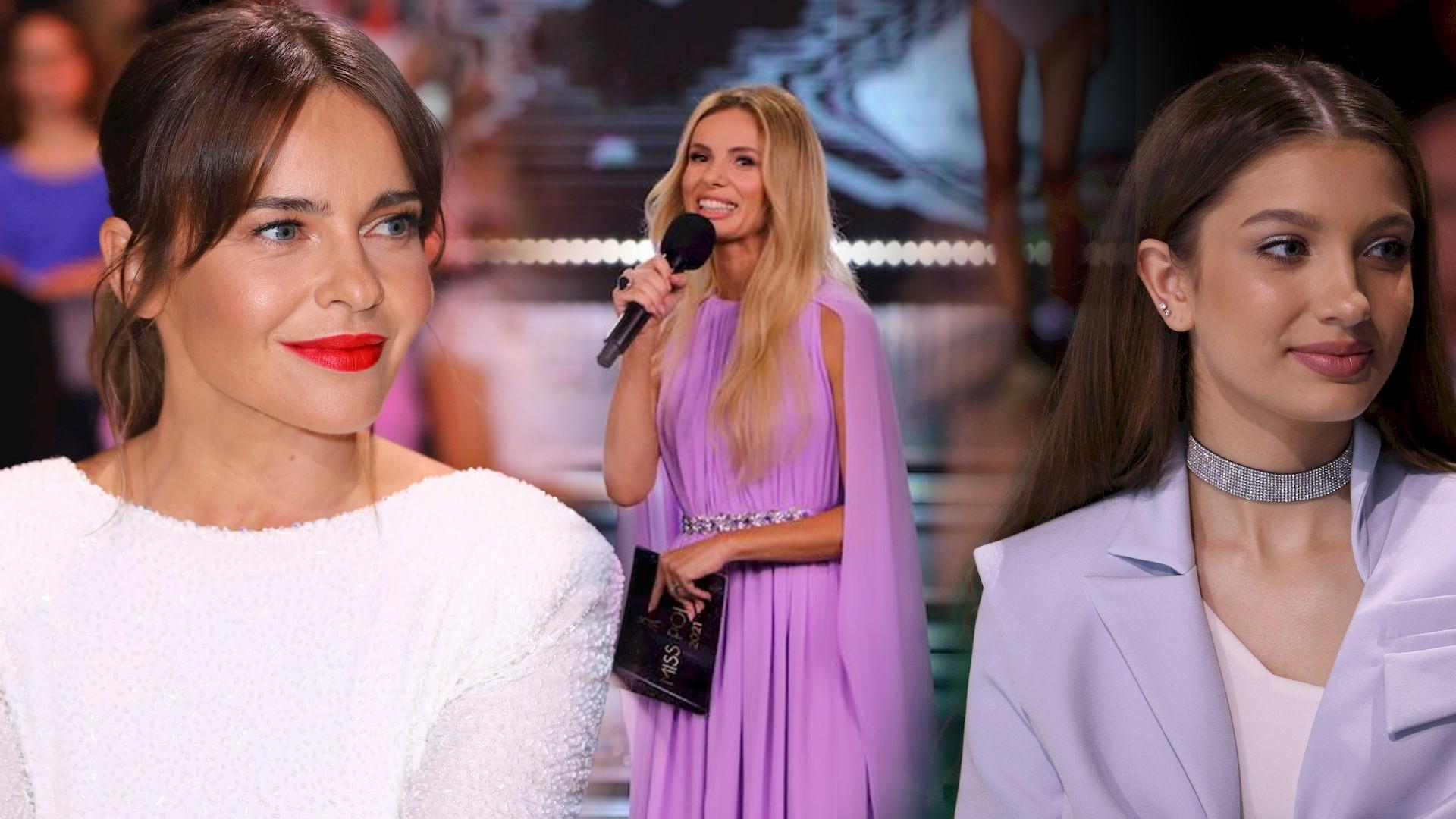 Gwiazdy na Miss Polski: Izabela Janachowska w fioletowej kreacji, Edyta Herbuś, Viola Piekut…