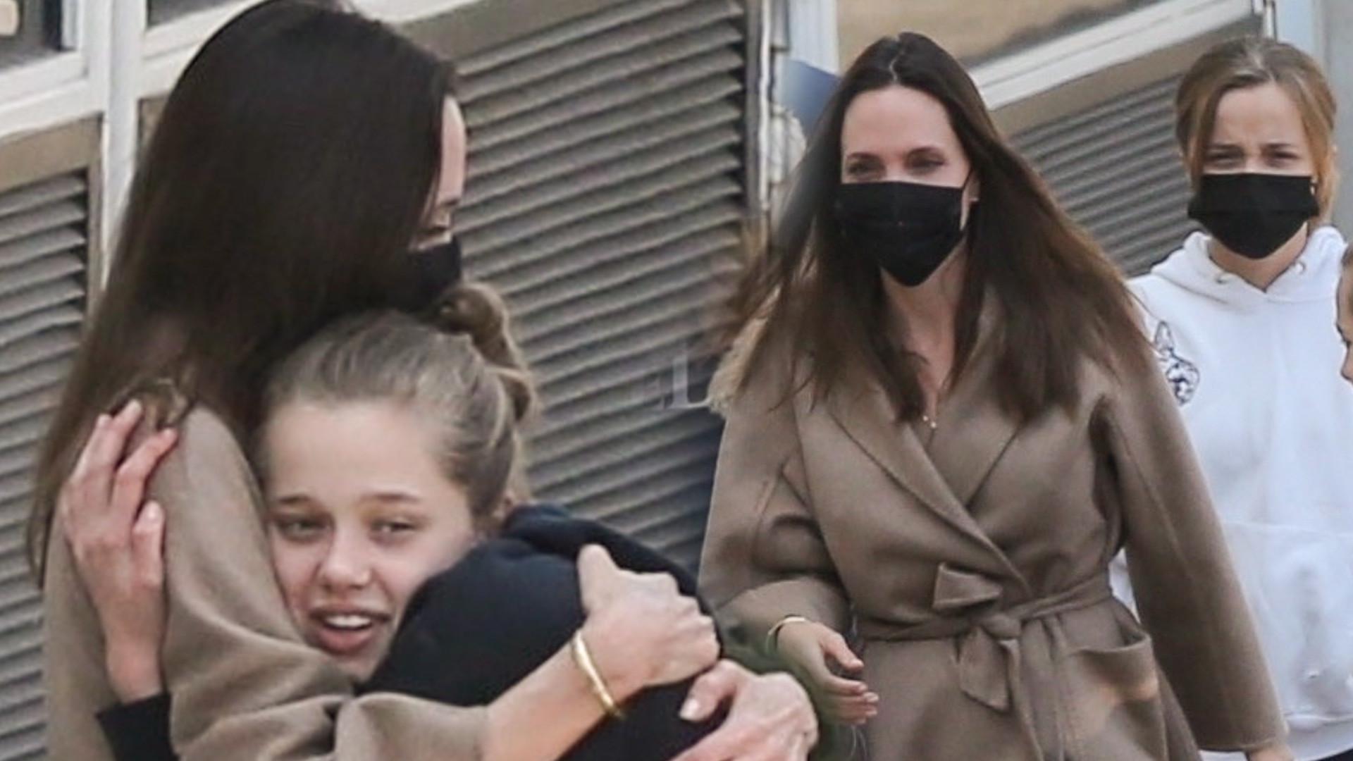 Angelina Jolie wyszła ze SZPITALA. Czule przywitały ją dzieci (ZDJĘCIA)