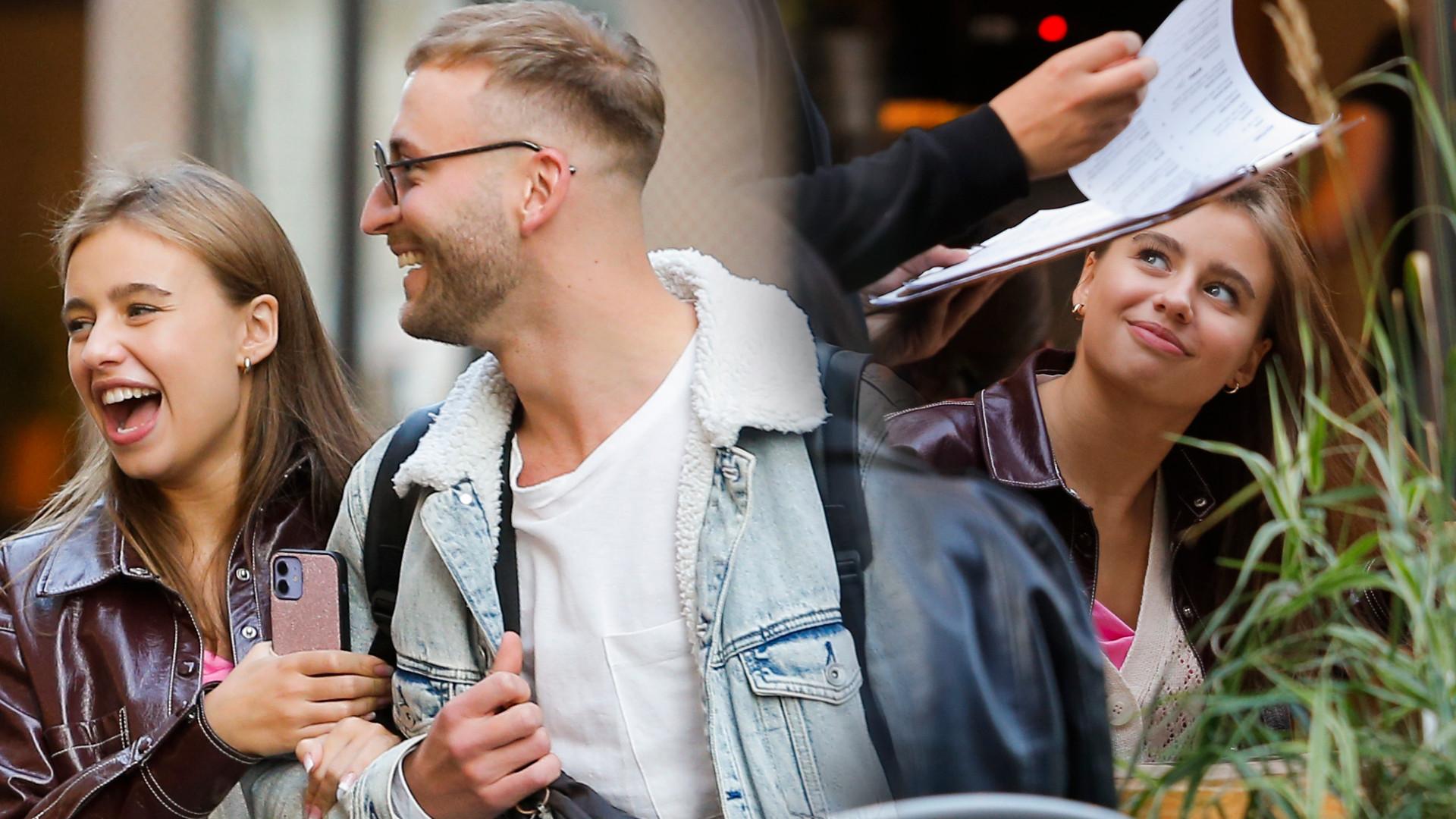 Oliwia Bieniuk i Michał Bartkiewicz relaksują się w restauracji przed pierwszym odcinkiem tanecznego show (ZDJĘCIA)