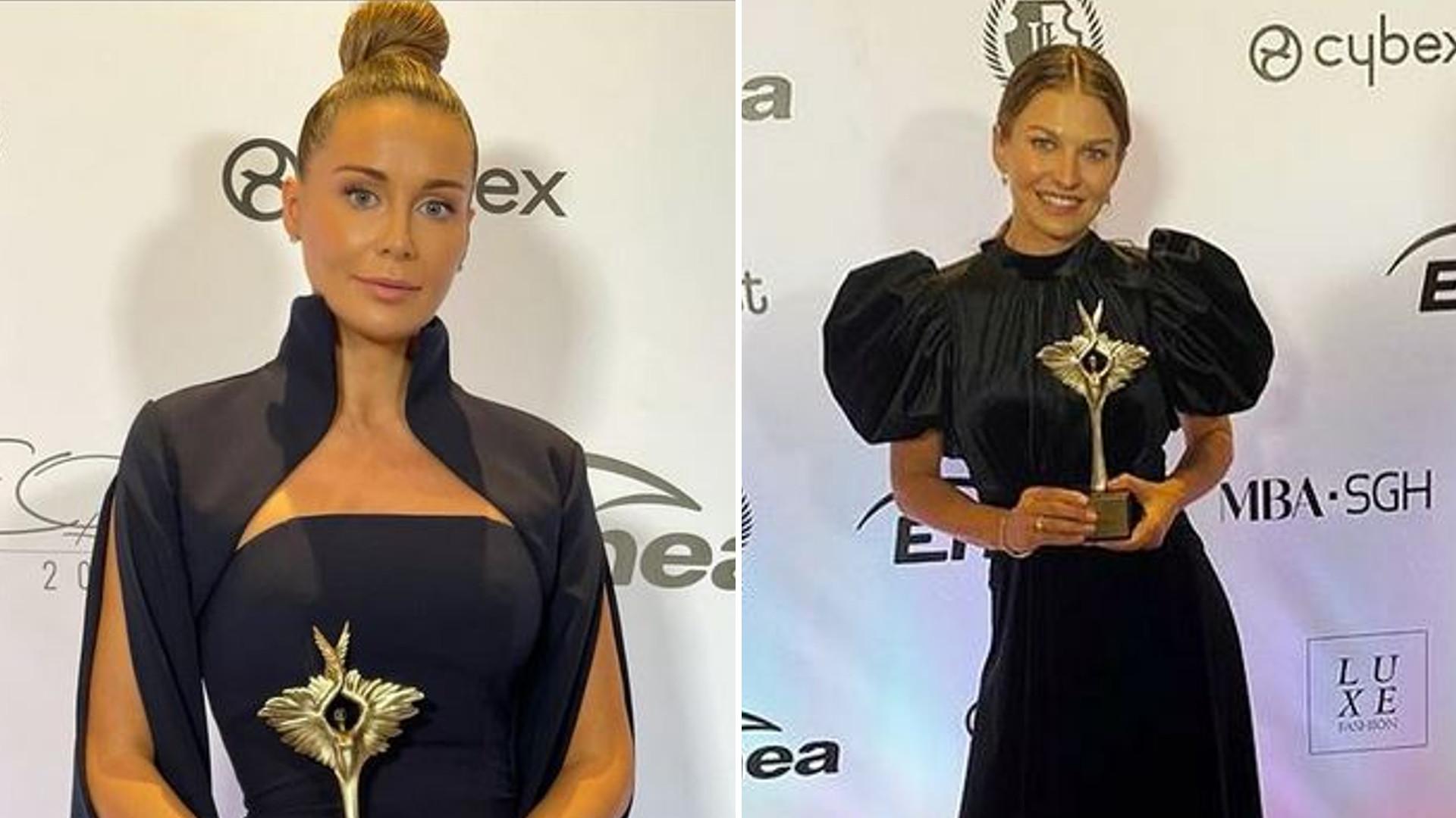 Anna Lewandowska i Małgorzata Rozenek w czarnych kreacjach na gali SheO Awards