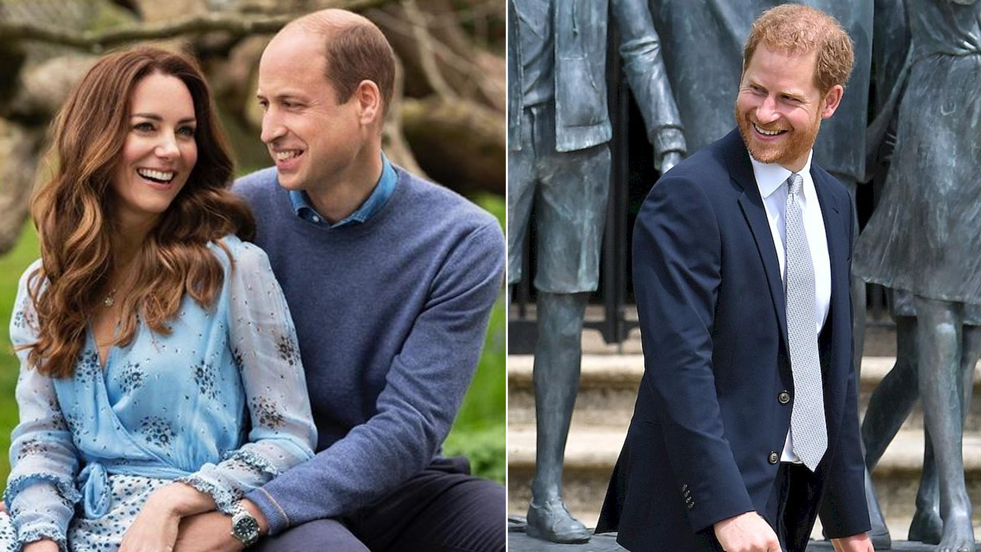 Kate i William złożyli publicznie życzenia Harry'emu. Nie postarali się