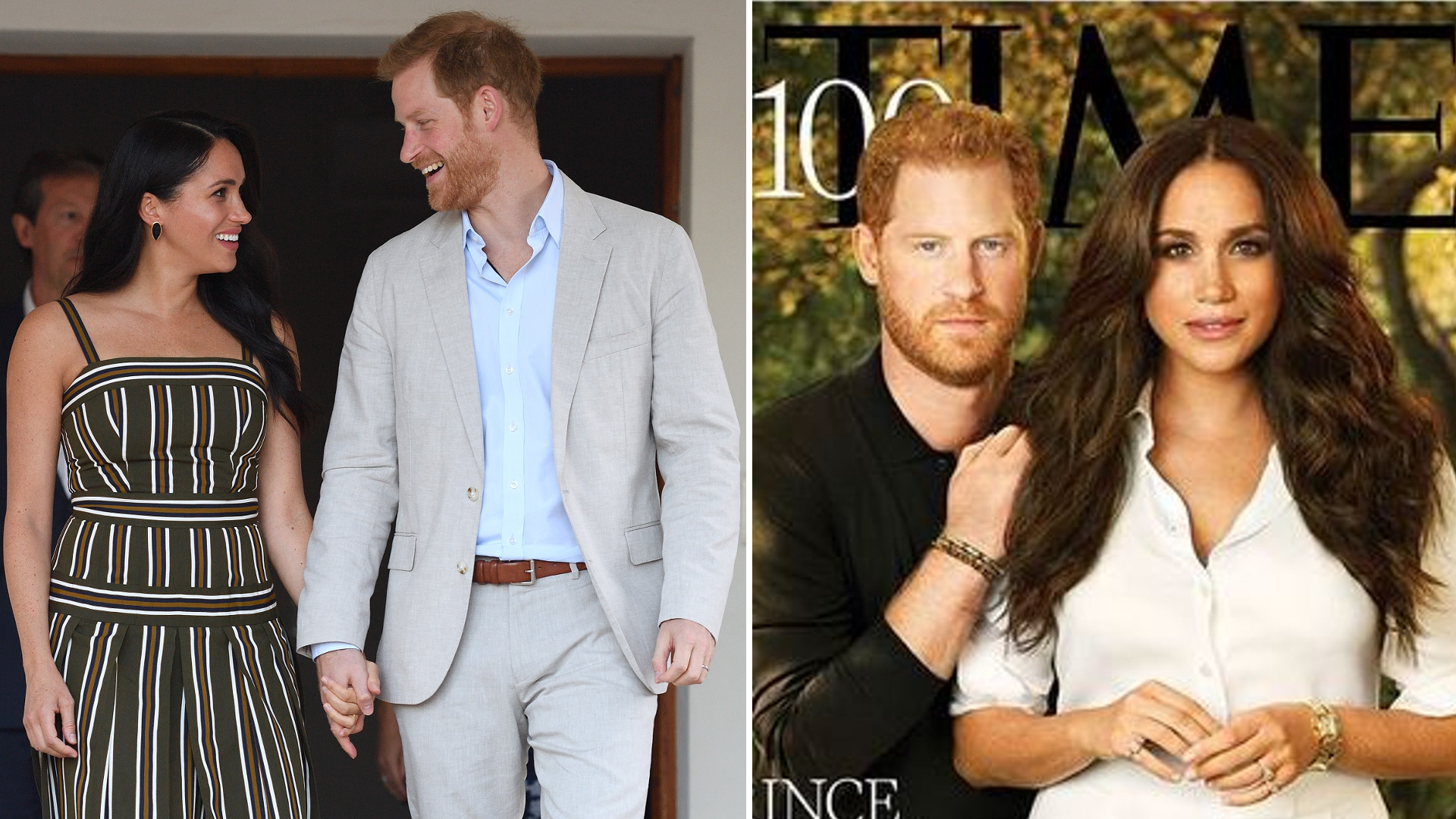Fani dopatrzyli się ukrytych znaków na okładce TIME'a z Meghan i Harrym