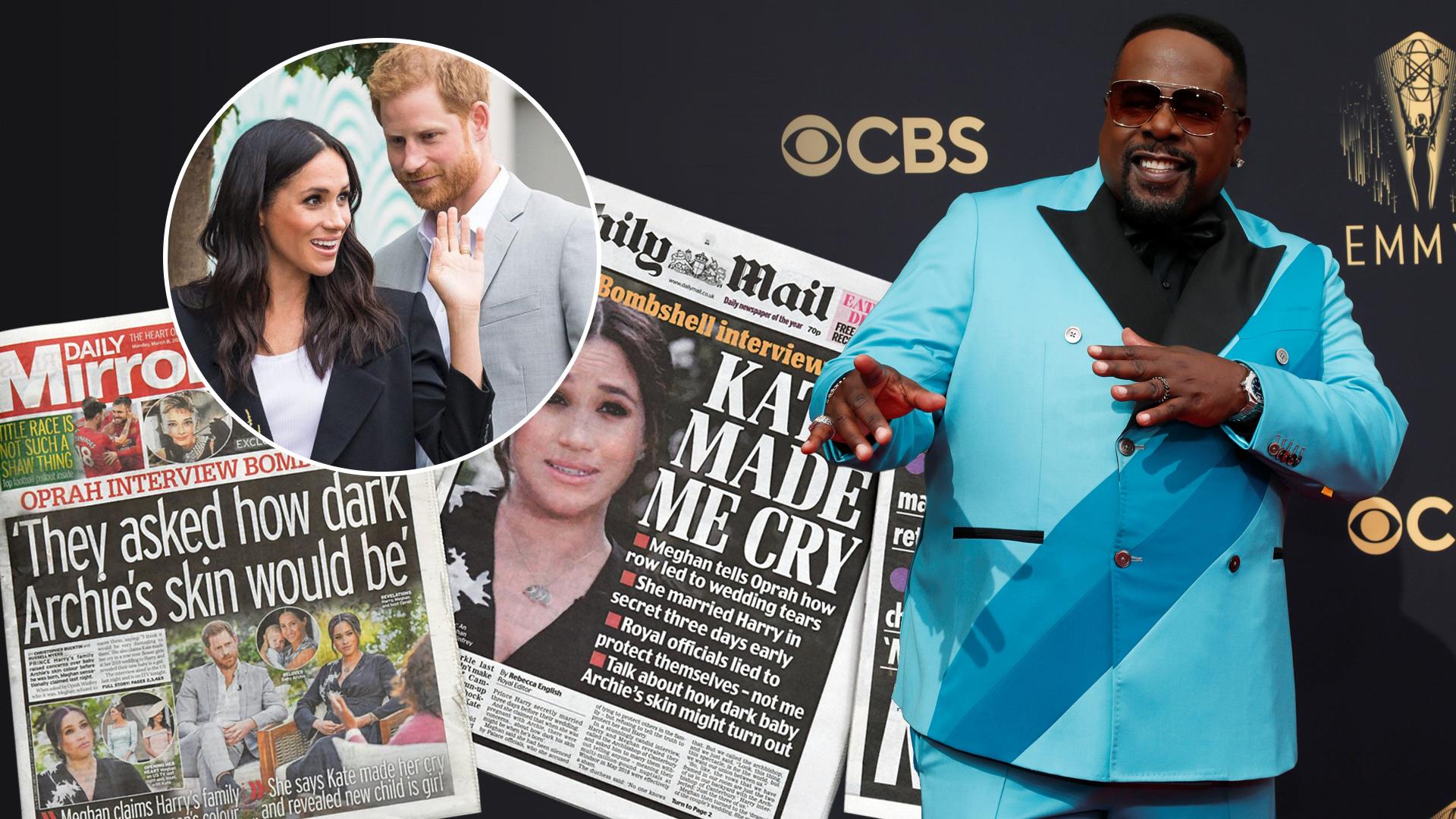 Amerykański komik Cedric the Entertainer wyśmiewa księcia Harry'ego i Meghan Markle podczas rozdania nagród Emmy