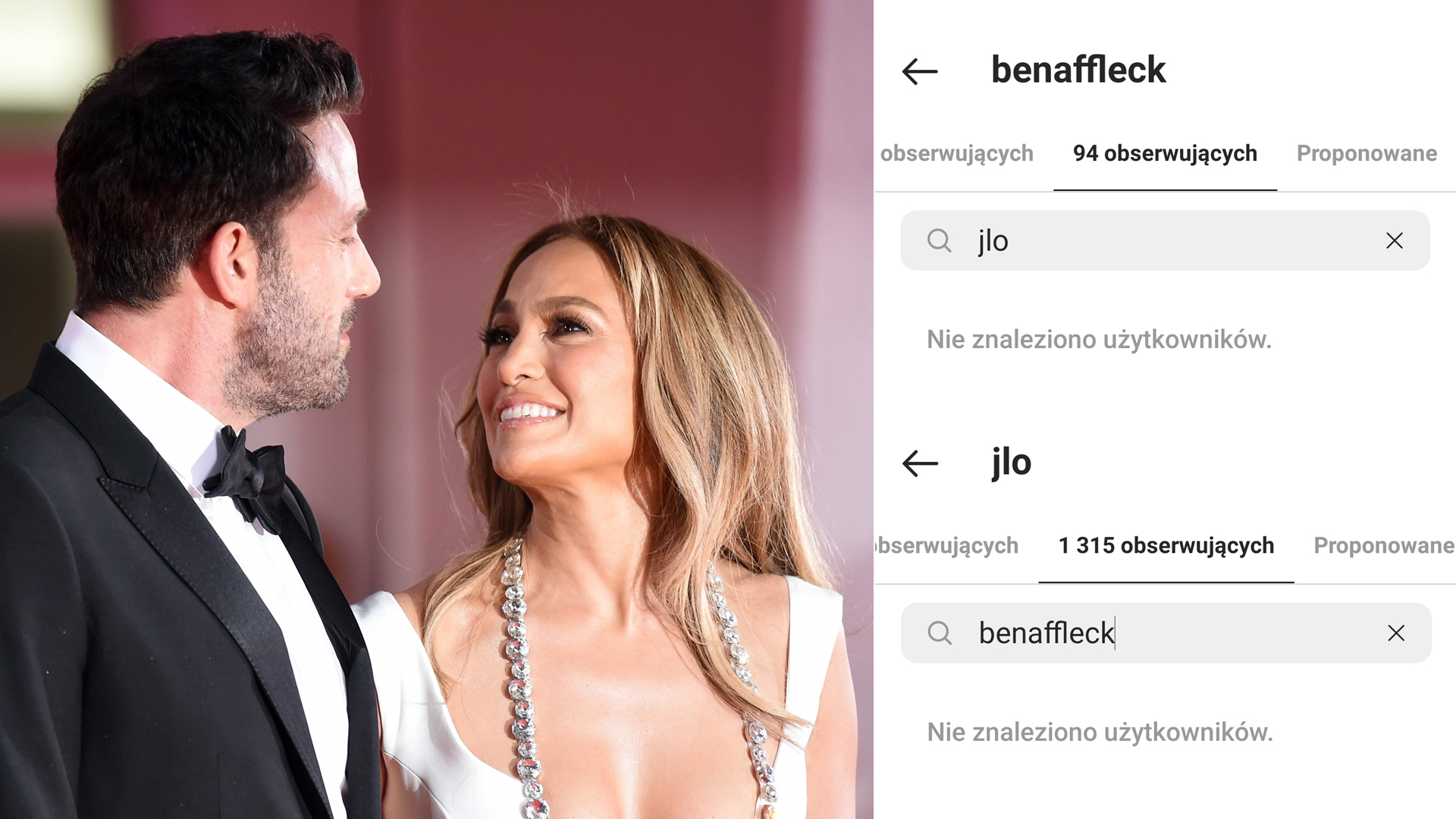 Jennifer Lopez i Ben Affleck NIE obserwują się na Instagramie. Co się stało?