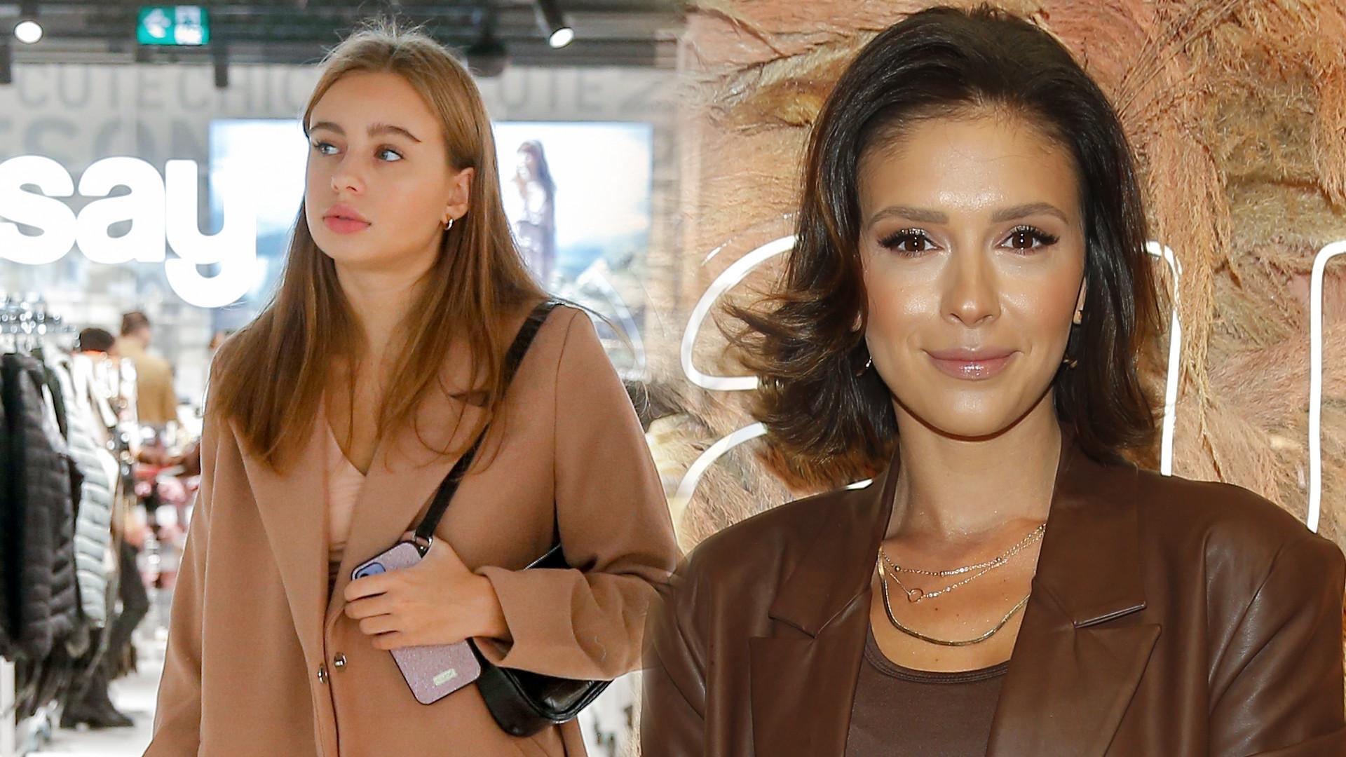 Oliwia Bieniuk w skórzanej mini i Klaudia Halejcio w krótkim topie na otwarciu sklepu (ZDJĘCIA)