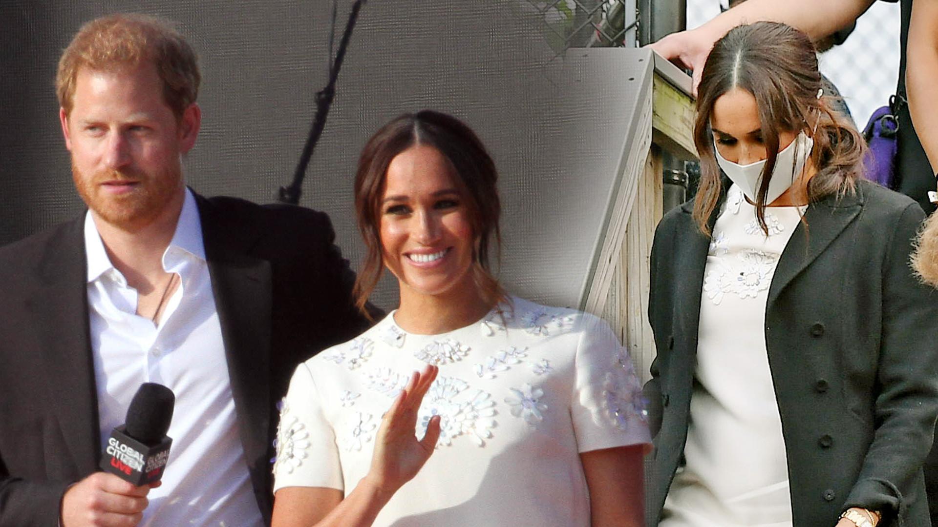 Meghan i Harry na koncercie Global Citizen Live. Żona księcia w krótkiej sukience od Valentino