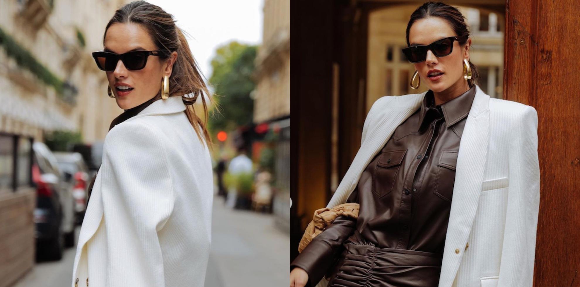 Alessandra Ambrosio w Paryżu cała w ciuchach od Sary Boruc
