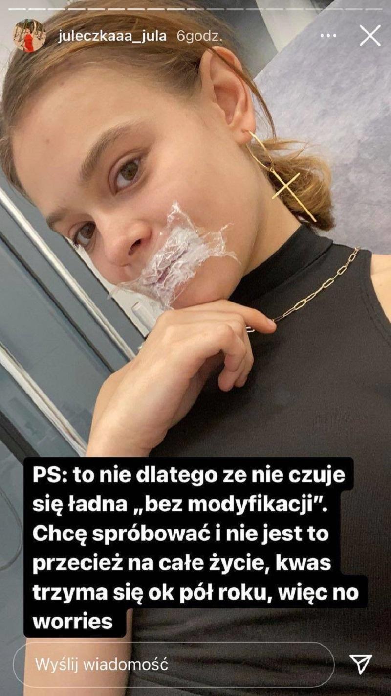 Julia Wróblewska, fot. Instagram @juleczkaaa_jula