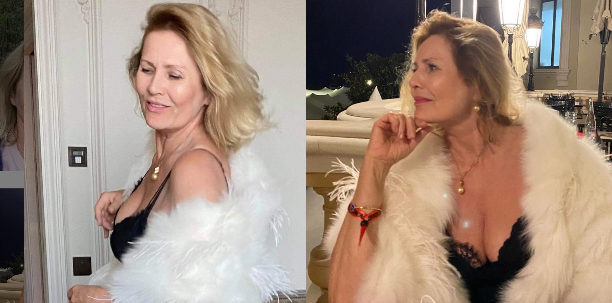 68-letnia Szapołowska pozuje w kostiumie kąpielowym