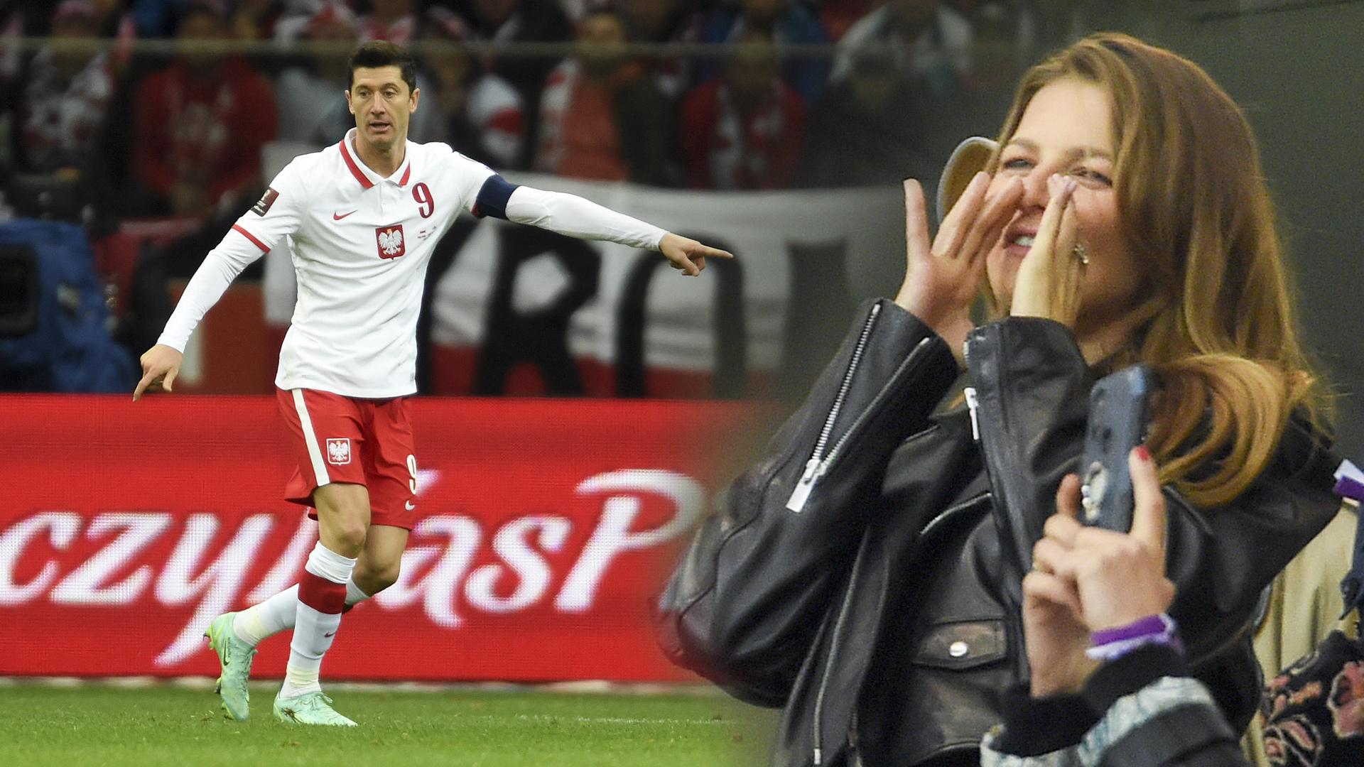 Anna Lewandowska i Zosia Ślotała na meczu z San Marino! (ZDJĘCIA)