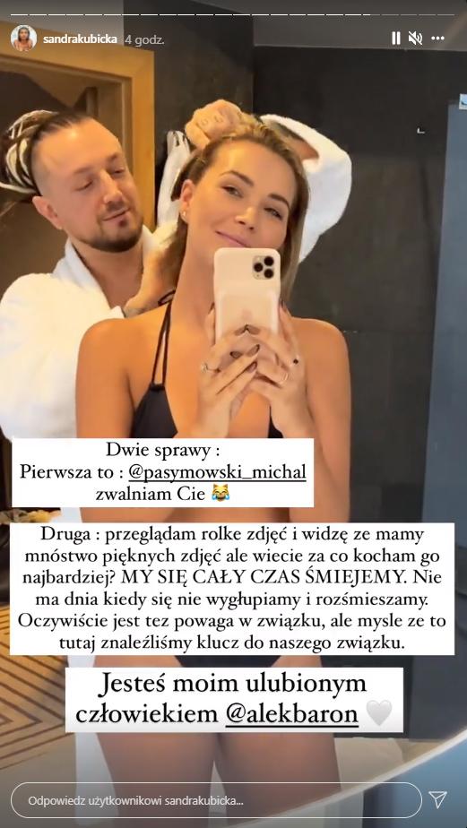 Sandra Kubicka o swoim związku z Baronem