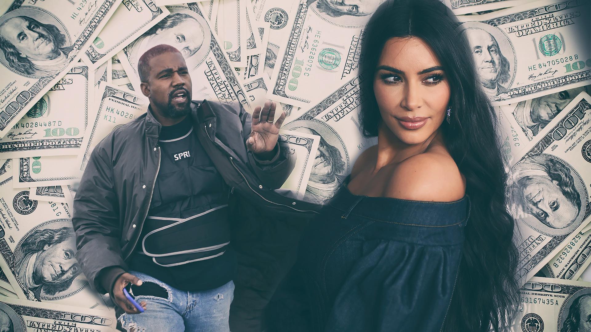 Kim Kardashian oskubie Kanye'go Westa z kasy?!